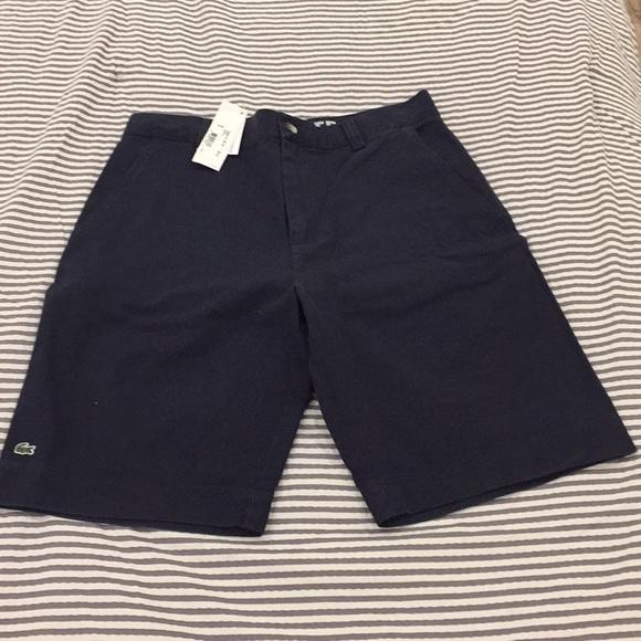 a41d14859 Lacoste shorts navy blue Men size 32 NWT